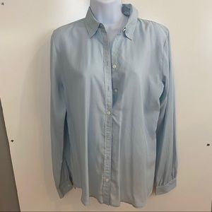 Ann Taylor LOFT lt Blue size S button down